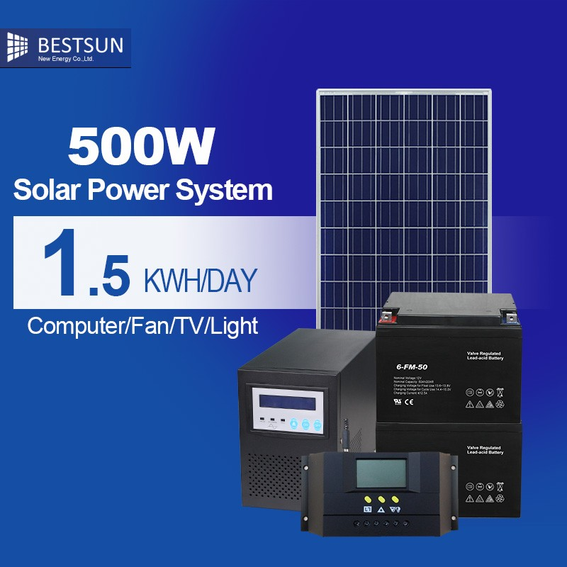 Solar 홈 System Kit Include 300 와트 Solar Panel/500 와트 Bulbs/Mobile Charge Solar Lighting System