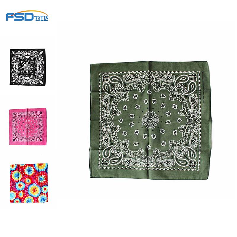 Fashion face cloth square bandana kerchief