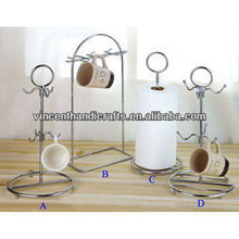 Kitchen metal wire cup holder and napkin holder