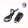 black 1080p HDMI to VGA with Audio adapter Cable For PC/TV/for Xbox 360