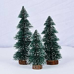 GAOYU Mini Desktop Christmas Tree Ornaments Bolbitis Appendiculata Flocking Snow White Christmas Trees Christmas Ornaments ,25Cm Gift