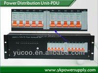 19inch Rack Mount PDU Power Distribution Unit For Telecom