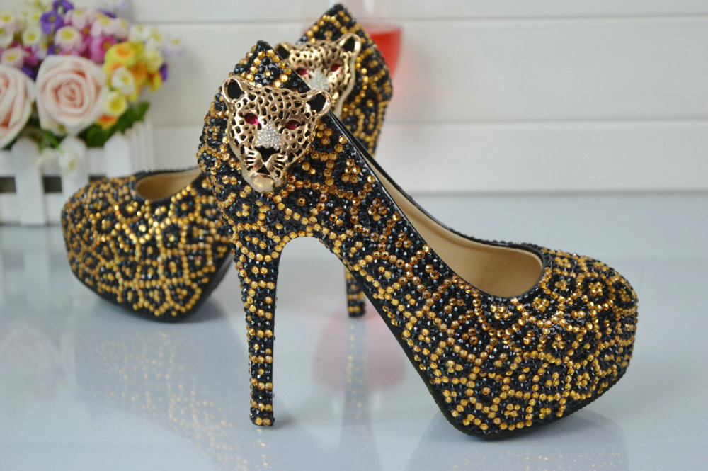 Shoes Plus Spike Sexy Platform Waterproof Pumps 5cm Women's BS006 Heel Size Shoes Shoes Leopard High Fashion gwOTRfwFq
