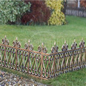 Wrought Iron Effect Garden Lawn Edging