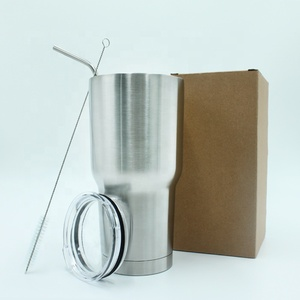 Stainless Steel Tumbler with Straw Double Wall 20oz 30oz with Lid Stainless Steel Mug