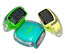 multifunctional pedometer promotional pedometer with belt clip step/disance/calorie counter