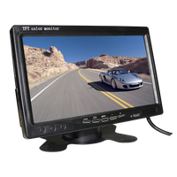 Rear View Systems 7'' Digital Quad Bus Car Lcd Monitor