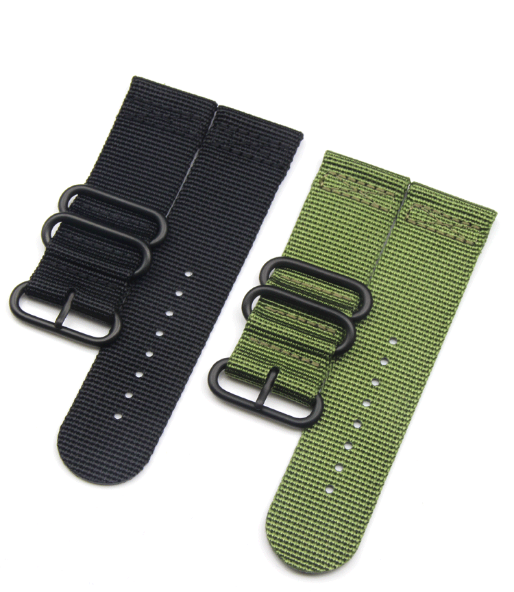 nylon watch band fitted with smart watch two-node long and short strap