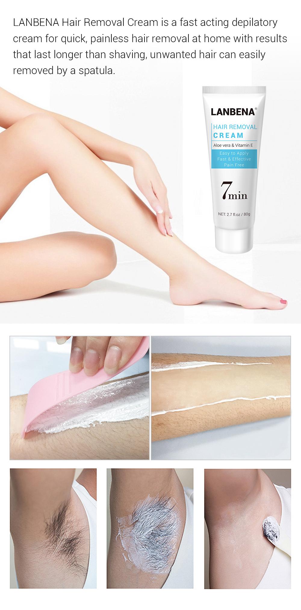Lanbena Aloe Vera Hair Removal Cream Remover For Women ...