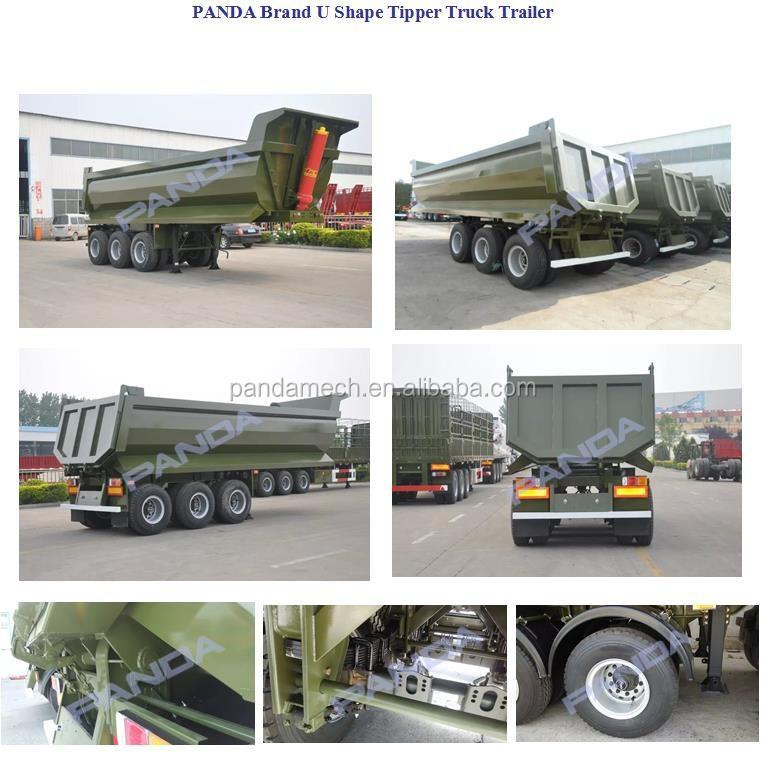 Schwere 31- 40t Kapazität Dump Sattelauflieger Diesel Kraftstoffart ...