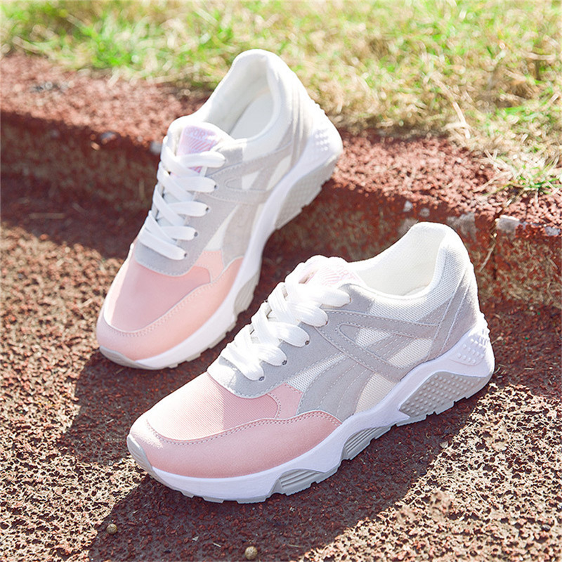 High Quality Active Running Sport Breathable Shoes Woman Mesh Net Cloth Shoes Sneakers