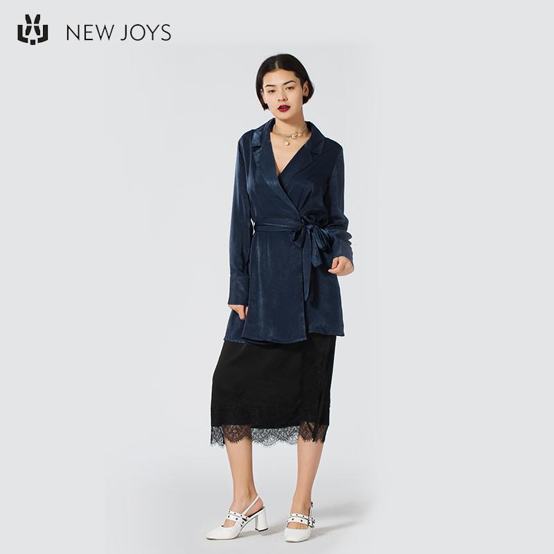 Navy Blue Tailored Kragen Trenchcoat Damen Samt Trenchcoat für Damen benutzerdefinierte Frühling