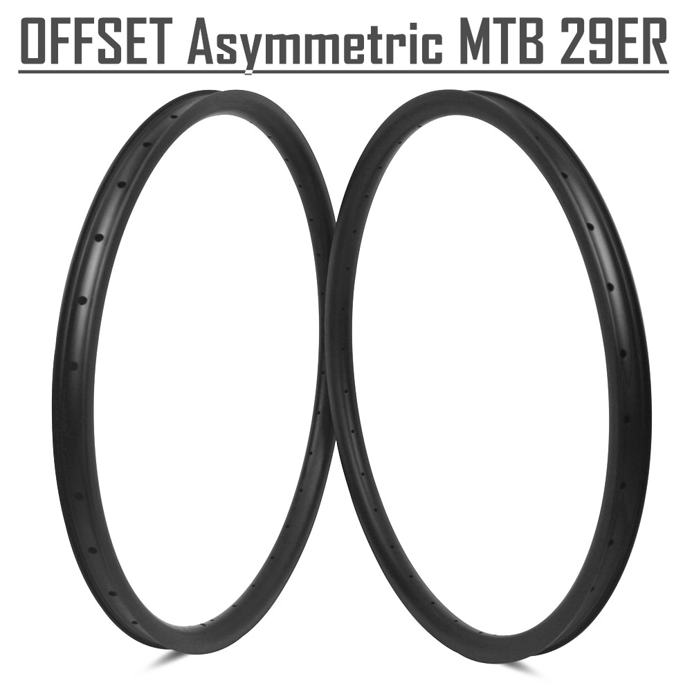 Carbon fiber T800 MTB 29er tubeless wheelset all mountain bicycle rims 33mm width carbon fiber MTB wheels