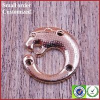 Wholesale small gold metal craft pieces with metal animal logo