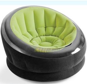 Round inflatable flocked sofa chair, single seater sofa chairs