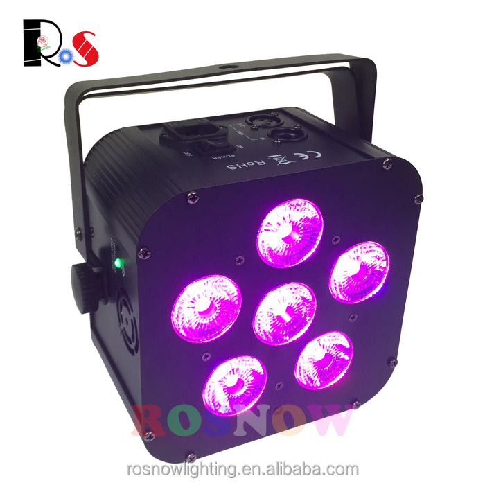 6x18w wedding event lighting square led uplight RGBWA UV 6in1 wireless battery powered led par