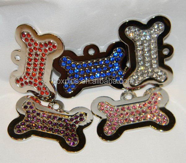 Adorable Rhinestone Czech Bone Pendant Dog Puppy Cat Charms