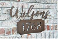 Personalized Outdoor Metal Address Name Sign