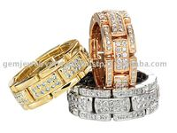 Indian Latest Traditional Diamond Ring High Quality 14k Gold Finger Jewelry Rings for Women and Girls
