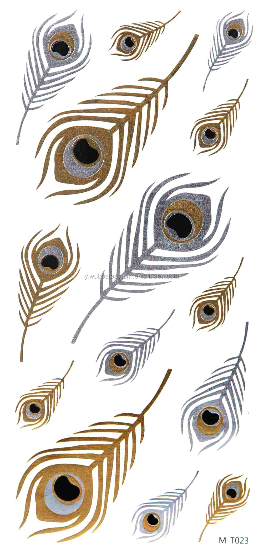 2015 New trends Gold Tattoo, Gold Tattoo Sticker, Gold Foil Tattoo