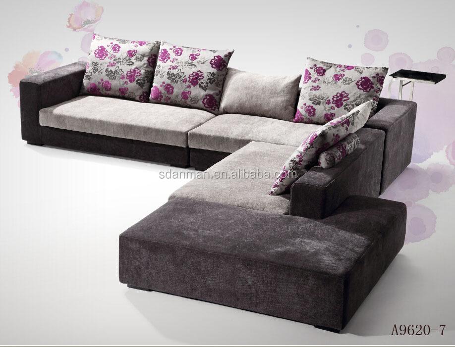 Excellent Latest Design Sofa Set Fabric Corner Unique Sectional Sofas With