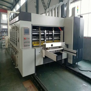 BOJUN corrugated sheet cutting withmanual chain type feeder , semi automatic corrugated carton box printer slotter die