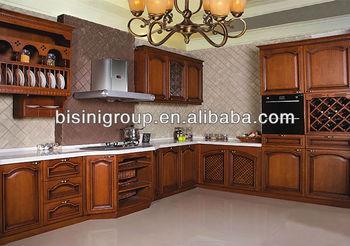 Bisini Amerikanische Landhausstil Küchenfront, Antik  Geschnitzte Schränke  In Der Küche, Massivholz Küchenschränke(