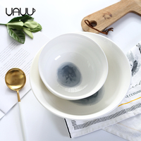 Hot new products colorful large chinese soup deep ceramic fresh decor bowls