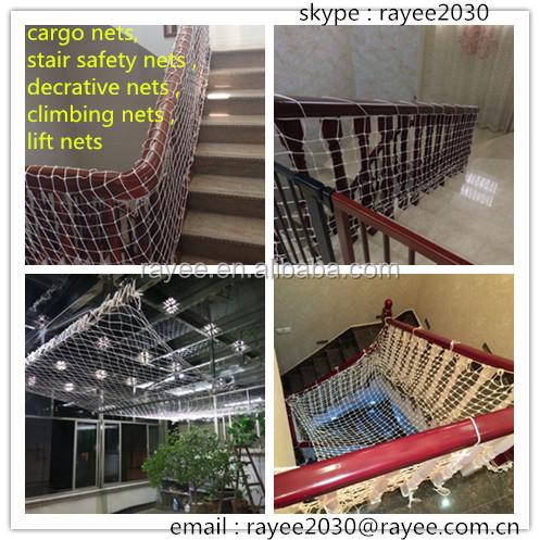 Polypropylene Rope Cargo Net Slings, Climbing Nets, Stair Safety Nets