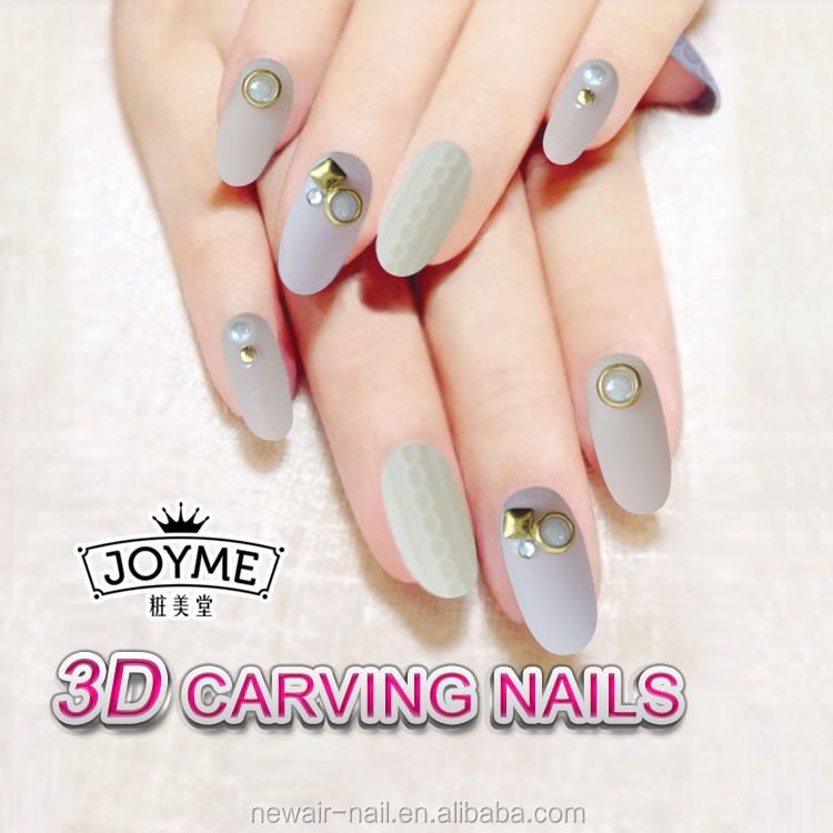 New Products 2017 3d Acrylic Finger Nails For Wedding Free Fake ...