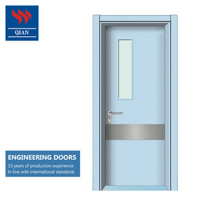 modern wood door designs HPL veneer MDF engineered wooden doors for hospital