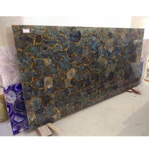 Natural gemstone polished labradorite granite countertops price for  furniture decoration