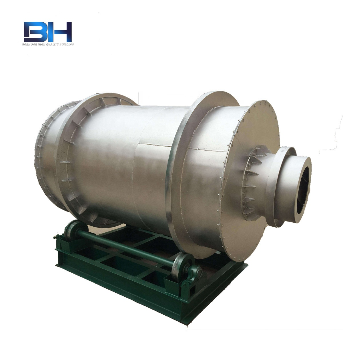 Paddy rotary drum mineral sand dryer kaolin continuous drying machine equipment fly ash drying production line