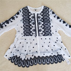 Women Embroidery White Summer Beach Dress To Girl