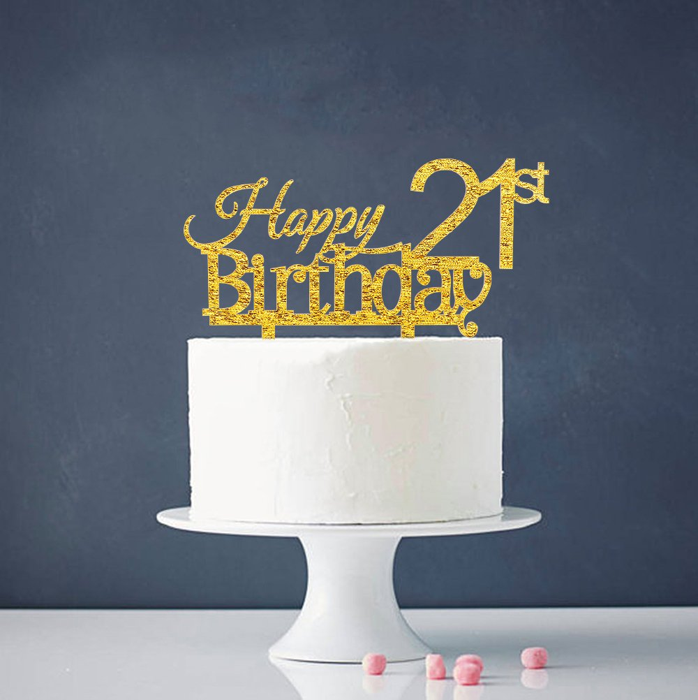 Get Quotations INNORU Happy 21st Birthday Cake Topper