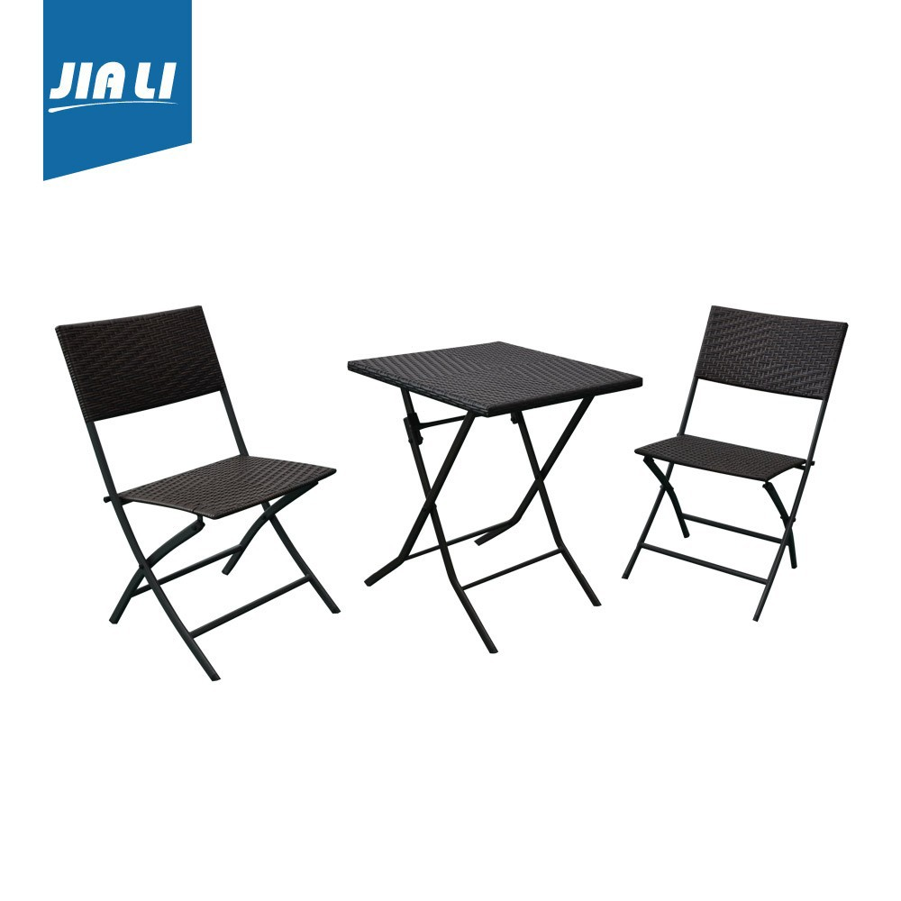 Garden set indoor and outdoor rattan folding chair and table