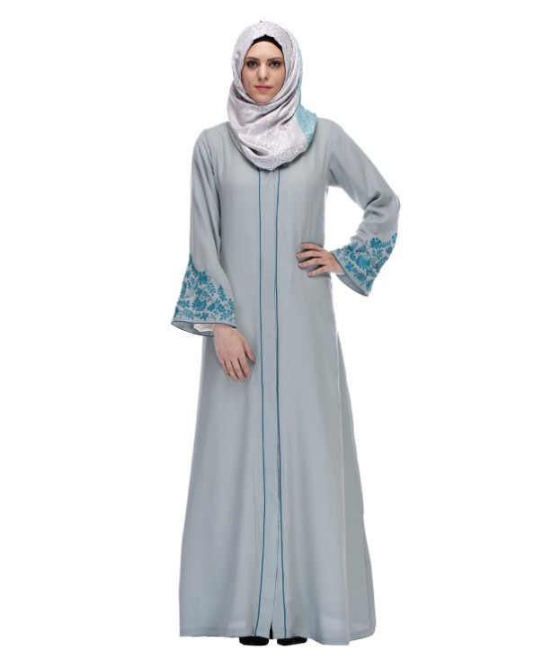 Muslim Dress Hand Embroidery Abaya For Women