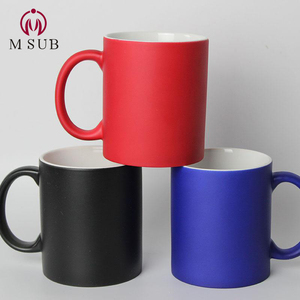 Matt magic mug color changing sublimation mug 11oz ceramic coffee mug