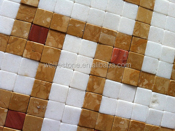 New Design Mixed Color Marble Mosaic Decoration Ceramic Floor Tile ...