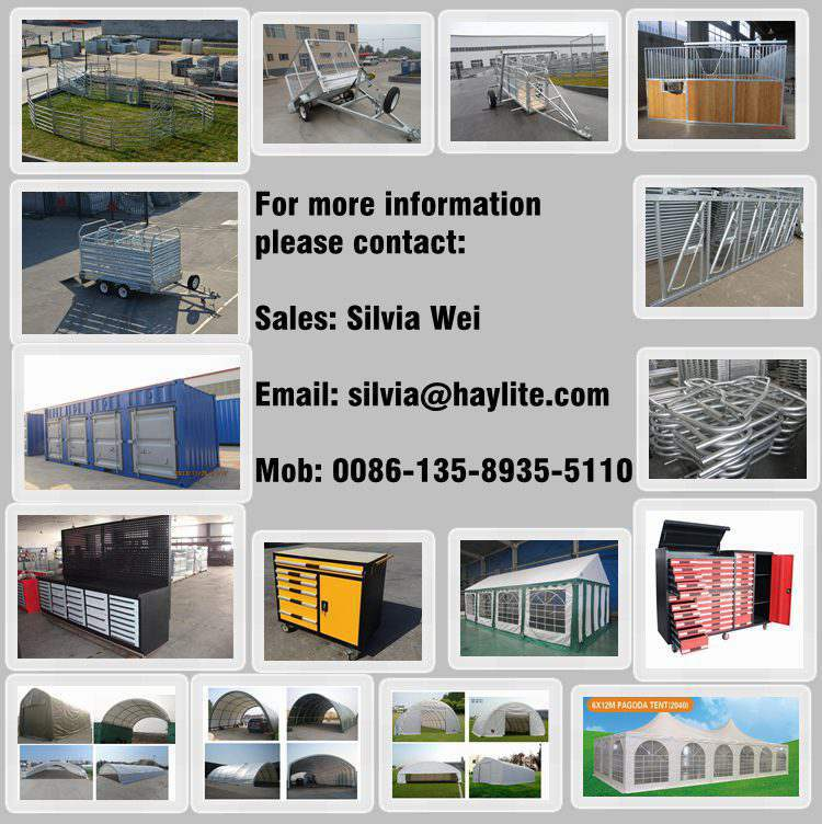 Heavy duty galvanized pipe corral panels with 6 bar