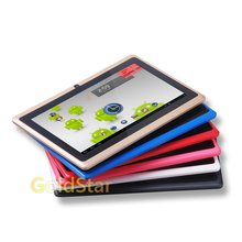 7 pulgadas google android4.4 3000 mah batería tablet pc wifi quad core 1.5 ghz ddr3 1 gb rom 8 gb q88 A33