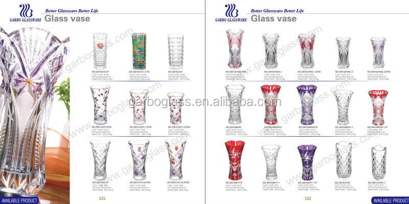 florero de cristal de alta flor vse jarrones de cristal altos