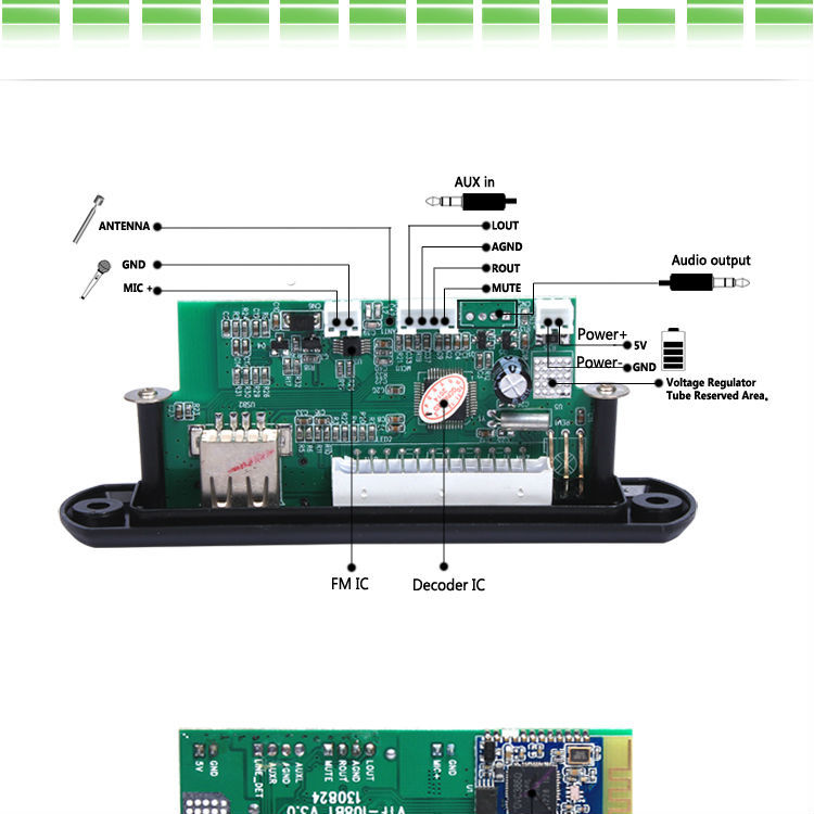 Audio Pcba Bord Bluetooth Mp3-player Decoder Modul-andere PCB Und PCBA-Produkt ID:60025947058