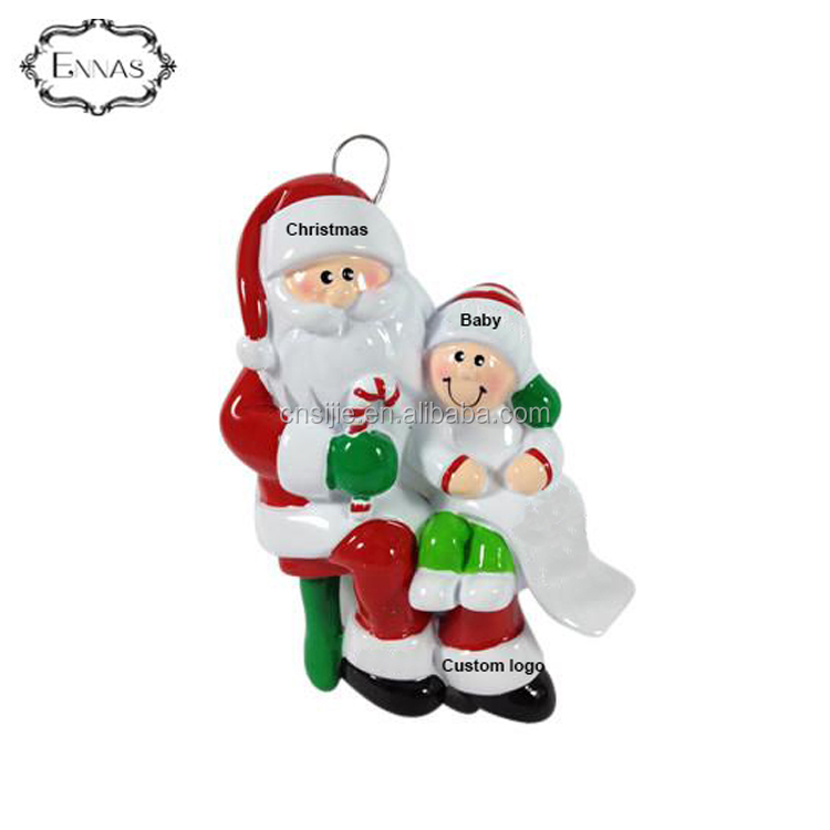Wholesale Resin Unique Santa Scroll Christmas Ornaments Art Christmas tree decoration