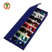 Custom 8 Slot Grid Eyewear Holder Stand Storage Display Jewelry Tray Organizer