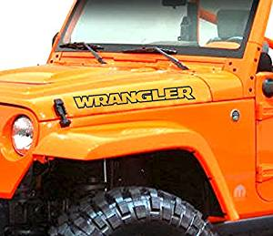 Pair of Wrangler hood decals stickers for Jeep