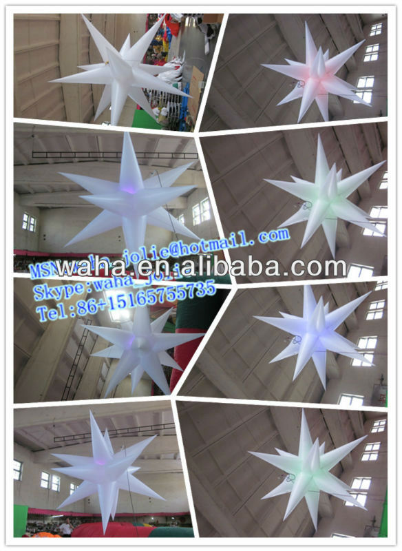 2013 hot selling new brand inflatable stars decorations