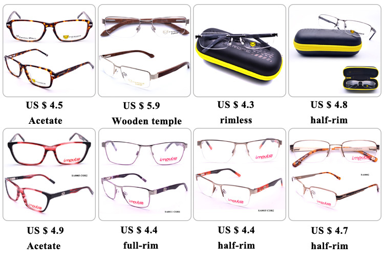 STOCK PROMOTIONAL cheap wholesale metal frames acetate temple optical frame women