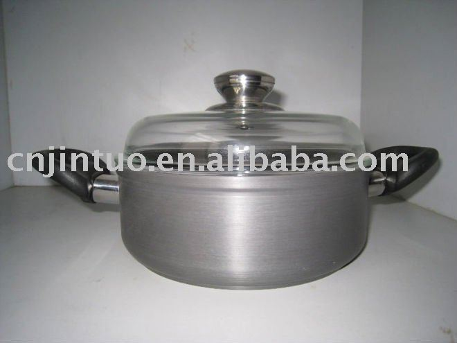 Jintuo aluminum non-stick stockpot with glass lid