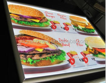 Backlit film ultra-thin slim snap frame A3 Led menu board picture frame sign slim light box